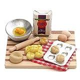 LAANCOO Miniatura panadería Decoración Huevos Leche Pan Modelo Mini Dollhouse alimento Cocción Junta Juguetes de simulación para los niños