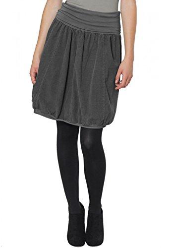 Caspar RO004 Damen Cord Rock Knielang, Farbe:dunkelgrau, Größe:S-M