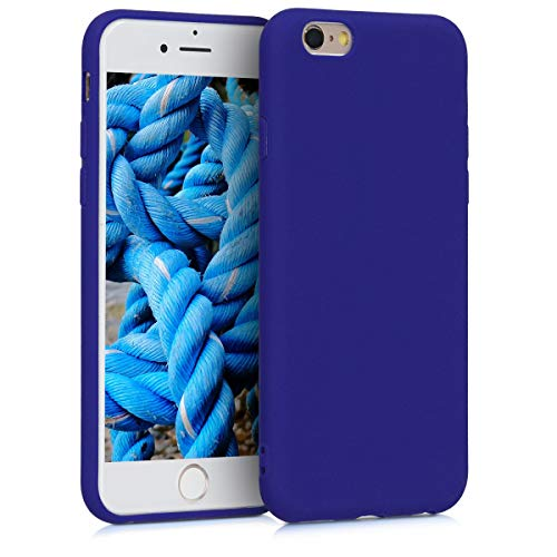 kwmobile Cover Compatibile con Apple iPhone 6 / 6S - Custodia in Silicone TPU - Backcover Protezione Posteriore- Blu Elettrico