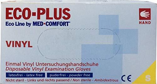 Vinyl 100 Einweg Handschuhe Ecoline Plus Gr. S