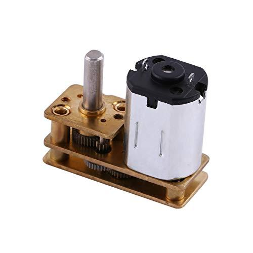 Motor DC, 1pc Metal DC 6V 100RPM Micro Motorreductor eléctrico Reducción de velocidad Caja de engranajes