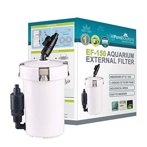 All Pond solutions EF-150 Filtre externe avec masse filtrante pour aquarium 400 L/H