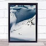 Ski Touring Snow Ski Touring Backcountry Skiing Cross Country Wall Art Print