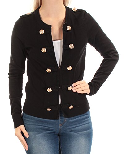 Inc International Concepts Women's Military Cardigan Sweater Deep Black (S)