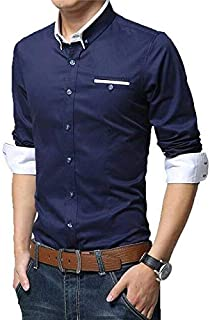 Tryme Fashion Men's Cotton Casual Shirt for Men Full Sleeves