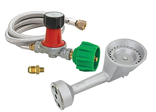 Bayou Classic M5HPR-30 0-30 PSI Adjustable Regulator & BG10 Burner Combo Kit - Includes 5235 Brass Orifice Perfect for Making Custom Grills or Smokers or Brew Systems or Mini Foundries