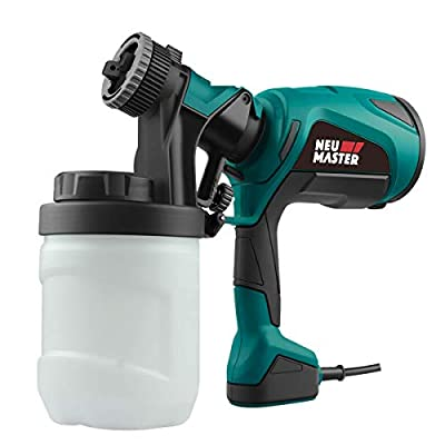 Paint Sprayer, NEU MASTER NSG0070 Electric Spray Gun, HVLP Paint Gun with 3 Spray Patterns, 3 Nozzle Sizes and 1200ml Detachable Canister for Painting Ceiling, Fence, Cabinets