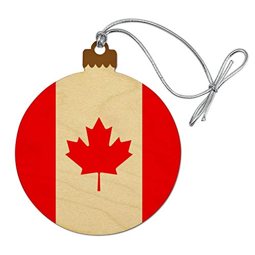 GRAPHICS & MORE Canada Country Flag Wood Christmas Tree Holiday Ornament