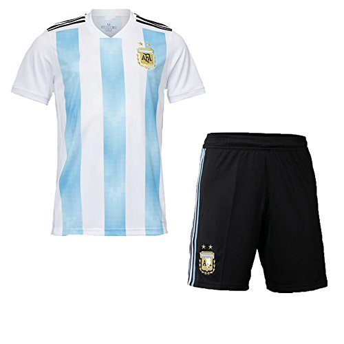 Zhouwei222 Camiseta de Futbol Personalizada Camiseta de la Copa del Mundo Camiseta de fútbol 2018 + Pantalones Cortos - Personalizado con Cualquier Nombre y número