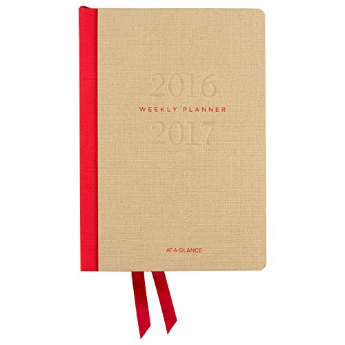 """AT-A-GLANCE Academic Year Weekly/Monthly Planner/Appointment Book, July 2016 - July 2017, 5-1/2 x 8-1/4"""" (YP106A-07-17)"""