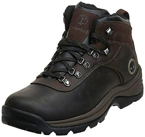 Timberland Men's Flume Mid Waterproof Hiking Boot, Dark Brown, 11
