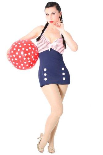 SugarShock Matrosen Sailor AHOI Badeanzug, Größe:S (36-38)