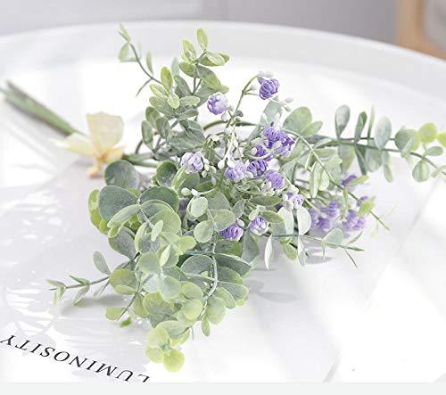 Zyf zijdeblad eucalyptus kunstzinnige groene bladeren voor bruiloftsdecoratie DIY geschenk scrapbooking Craft Fake Plants 36 cm Gypsophila