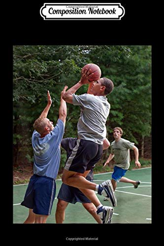 Composition Notebook: Barack Obama Playing Basketball  Journal/Notebook Blank Lined Ruled 6x9 100 Pages