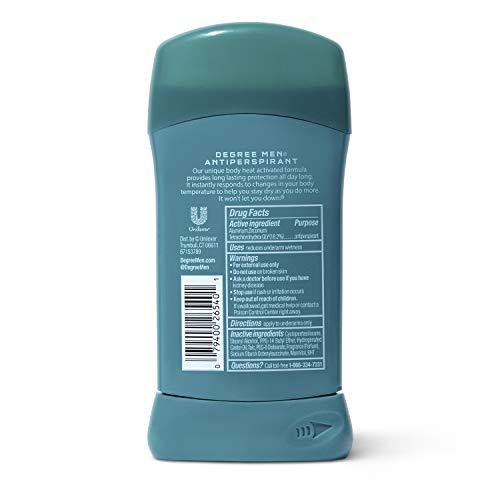 Degree Men Dry Protection Antiperspirant & Deodorant, Cool Rush 2.7 oz, Pack of 6 by Degree Men