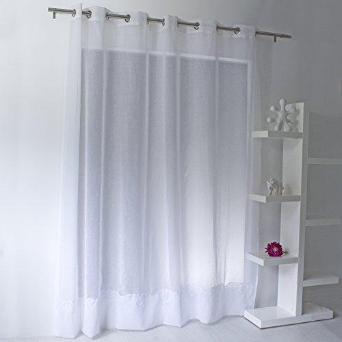 Enjoy Home Voile Sablé, Polyester, Blanc, 300x240 cm