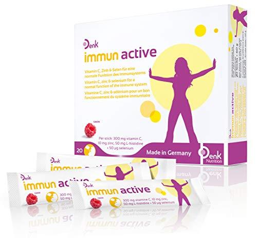 immun active Denk - Unterstützt das Immunsystem mit Vitamin C, Zink & Selen - 20 Direktsticks