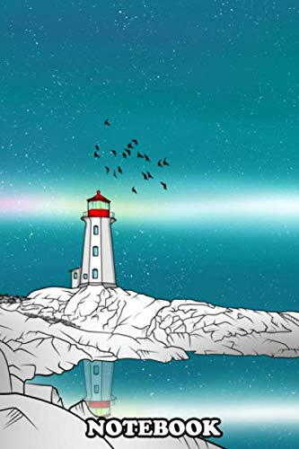 Notebook: An Illustration Peggys Point Lighthouse Or Peggys Cove , Journal for Writing, College Ruled Size 6' x 9', 110 Pages