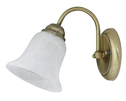 Rabalux wandlamp Francesca Kleur: Brons/wit albast klassiek Breedte: 135 Hoogte: 190