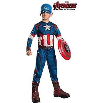 DISBACANAL Disfraz de Capitán América para niño - -, 8-10 años ...
