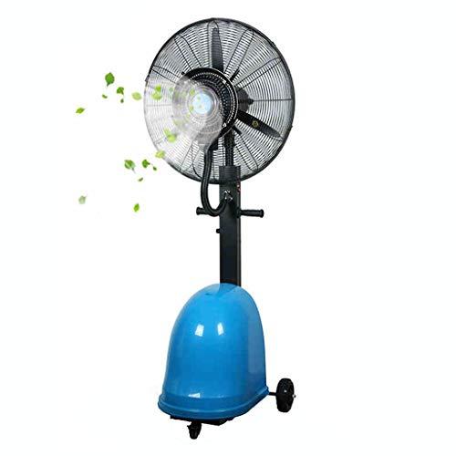 Airconditioning, ventilator, met sproeifunctie, oscillerend voor binnen en buiten, voor snel afkoelen, 3 snelheden, handmatig bijvullen van water, 49-l (vaststaand, maat