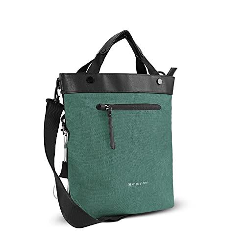 Sherpani Geo, Anti Theft Crossbody Bag, Tote Bag, Travel Shoulder Bag, Medium Crossbody Purses for Women Fits 10 Inch Tablet (Teal)