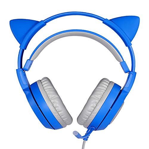 lizeyu Usable lindo juventud juego auricular solo enchufe PS4 hogar universal auriculares con micrófono