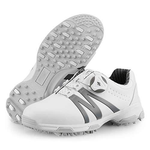 CGBF- Wasserdichte Golfschuhe für Kinder, Jungen, Mädchen, Sportschuhe, bequem, leicht, Sneakers für Ihre Füße., Grau - grau - Größe: 38 2/3 EU
