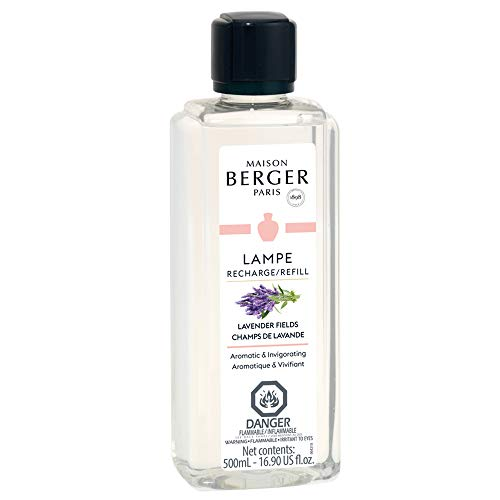Lavender Fields | Lampe Berger Fragrance Refill by MAISON BERGER | for Home Fragrance Oil Diffuser | Purifying and perfuming Your Home | 16.9 Fluid Ounces - 500 milliliters | Made in France