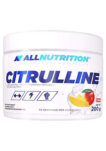 AllNutrition Citrulline Malate 200g Dose mit Geschmack Aminosäuren L-Citrulline (Mango)