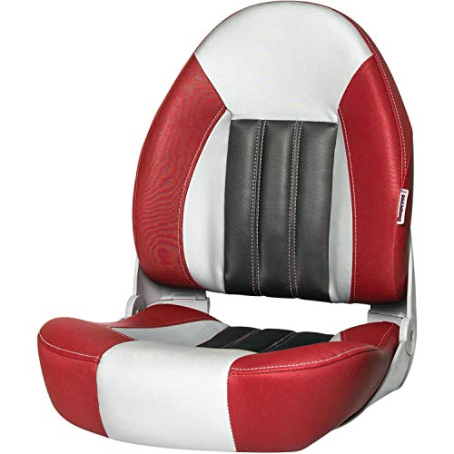 Tempress 68450 Probax High-Back Orthopedic Boat Seat - Red/Gray/Carbon