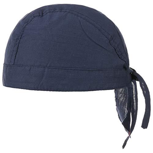 Baumwoll Bandana Corsaire Damen/Herren - Kopftuch aus Baumwolle - Sommer/Winter - Piratentuch blau