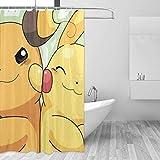 992 Colaecy Pikachu Duschvorhang, 152,4 x 183,9 cm, bedruckt, wasserdicht, für Badezimmer
