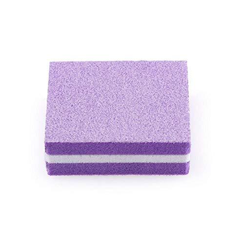 Boner 5 stks elastische spons dubbelzijdige mini nagel polijstmachine fijn schuren polijsten blok nagelvijlen manicure trim tools, paars