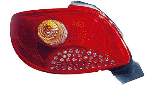 Voyant arrière gauche Peug. 206 plus (09- >) sans douille 1998- Rouge
