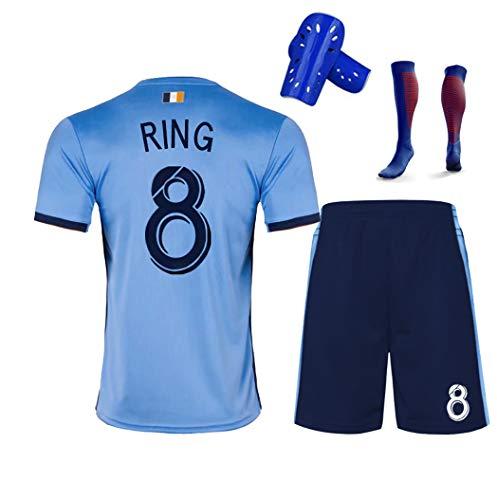 Pirlo 10 David Villa 7 Ring 8 Fußballuniform, 19-20 New Yorker Heimfußball T-Shirt Shorts Kits, Fußballuniformen für Männer und Kinder-RING8-130