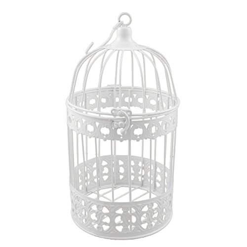 Décoration de cage à oiseaux en métal p-9080 blanc 32 x 17 cm