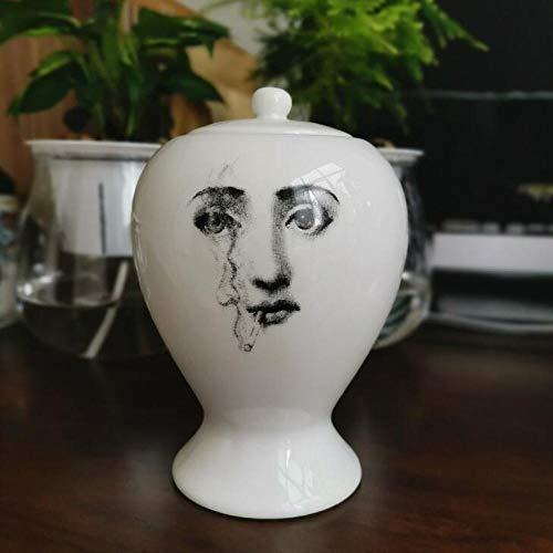 Vase Kreative Keramik Aufbewahrungsglas Küche Lebensmittelbehälter Bonbonglas Kleine Vase Wohnzimmer Desktop Dekoratives Zubehör D.