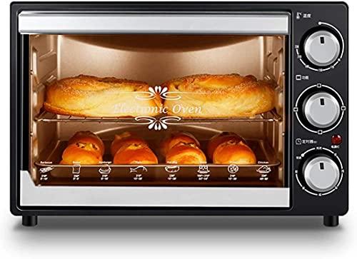 Mini horno, horno profesional multifuncional de 32 litros de 32 litros para uso doméstico, cocción profesional controlada por temperatura profesional de pasteles y galletas, operación rotativa