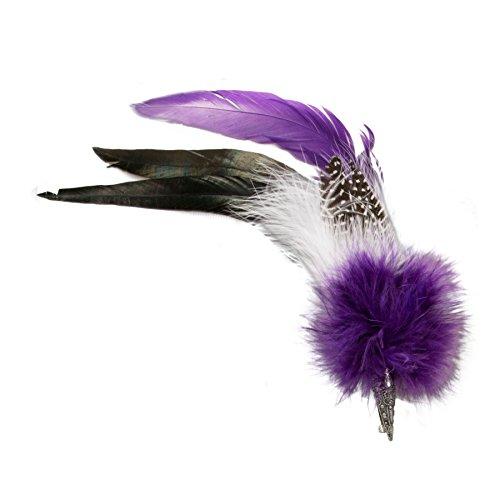 Alpenflüstern API04600070 - Broche con plumas para sombrero de mujer, color morado
