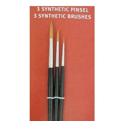 577701 - Feines Pinsel-Set mit drei Pinsel, Größen 0, 3, 7, für besonders filigrane Arbeiten in sehr guter Qualität!
