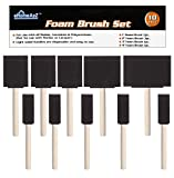 eHomeA2Z Foam Paint Brushes 10 Pack Lightweight, Great for Acrylics, Stains, Varnishes, Crafts, Art,...