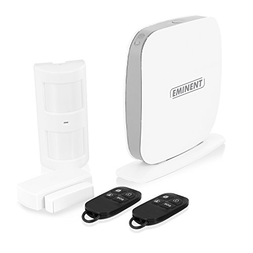 Eminent EM8615 Kit Sistema di Allarme WiFi/SMS/gsm, Bianco