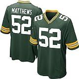 # 52 Matthews, Sudadera de Rugby Running Competencia Traje de Entrenamiento Jersey Jersey Traje Camiseta Bordado Real Jersey S-3XL-green-XXXL