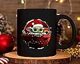 N\A Taza de café, 11 oz, Baby Yoda Wear Santa Hat Christmas 2020 Mug Taza de Yoda Lover Taza de café de cerámica Baby Yoda Hombres y Mujeres