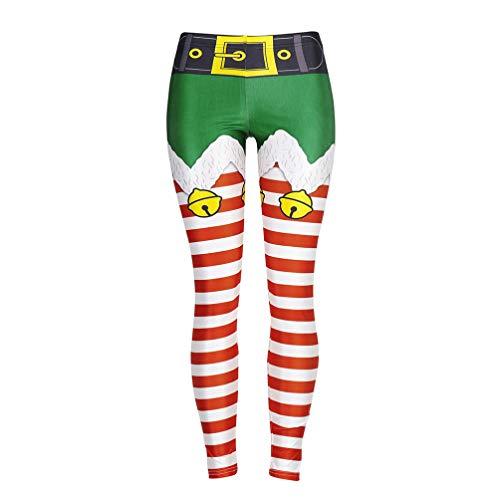 PRETYZOOM 1 Paar Weihnachten Gestreifte Strumpfhose Urlaub Kostüm Strumpfhose Stretch Gedruckt für Weihnachten Urlaub Neuheiten Cosplay Strumpfhose (Größe L)