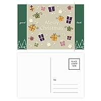 クリスマスギフトクリスマスフェスティバル グッドラック・ポストカードセットのカードを郵送側20個