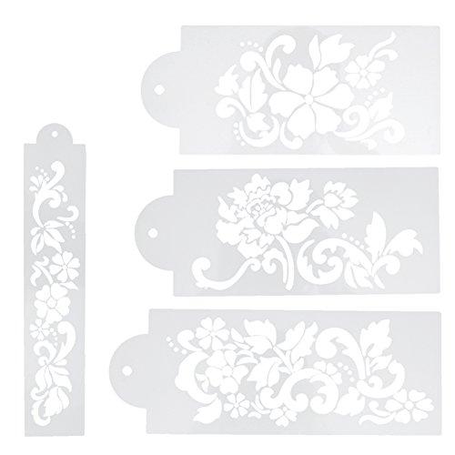 matefield 4Kuchen Schablone Flower & Leaf Kuchen dekorieren Tools Fondant Formen