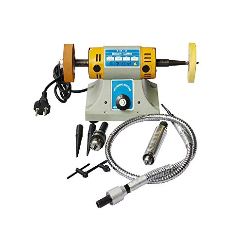 Learn More About TM-2 Jewelry Rock Polishing Grinding Buffer Machine Electric Bench Lathe Polisher 1...