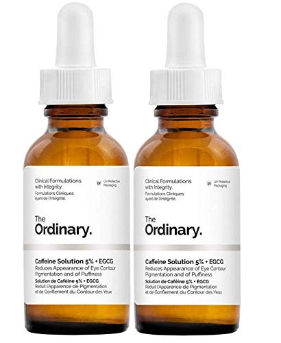 2 Pack of The Ordinary Caffeine Solution 5% + EGCG (30ml): Reduces Appearance of Eye Contour Pigmentation and Puffiness